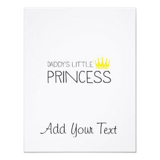 Daddy's little Princess 11 Cm X 14 Cm Invitation Card