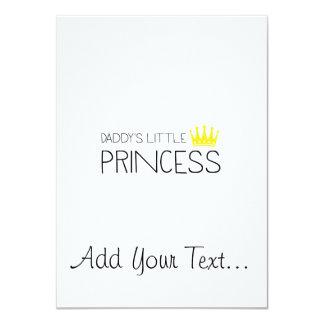 Daddy's little Princess 11 Cm X 16 Cm Invitation Card