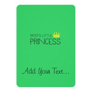 Daddy's little Princess 13 Cm X 18 Cm Invitation Card