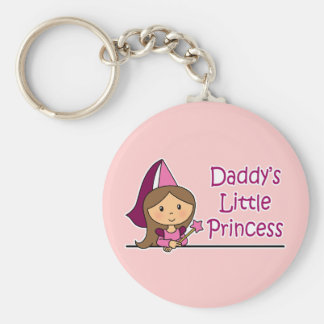 Daddy's Little Princess Basic Round Button Key Ring