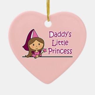 Daddy's Little Princess Ceramic Heart Decoration