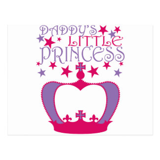 Daddys Little Princess Post Card