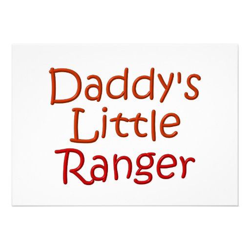 Daddy's Little Ranger Invitations