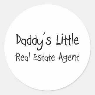 Daddy's Little Real Estate Agent Sticker