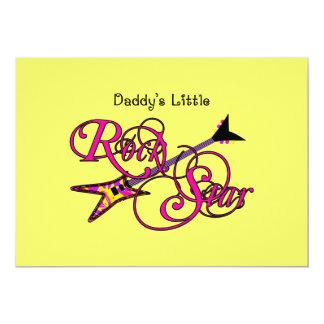 Daddy's Little Rock Star Custom Invite