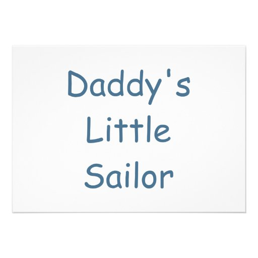 Daddy's Little Sailor Personalized Invitations