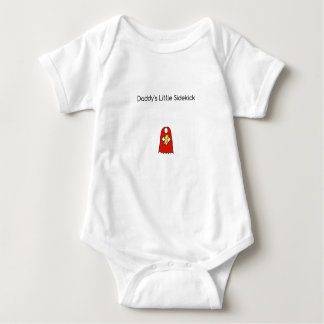 Daddy's Little Sidekick Superhero Cape Red Baby Bodysuit