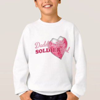 Daddy's Little Soldier Girl Sweatshirt
