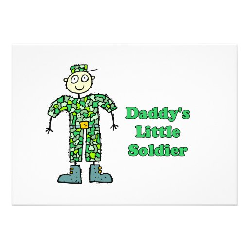 Daddy's Little Soldier Personalized Announcements