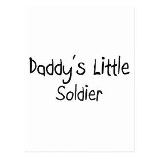 Daddy's Little Soldier Postcard