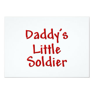Daddy's Little Soldier (red) 13 Cm X 18 Cm Invitation Card