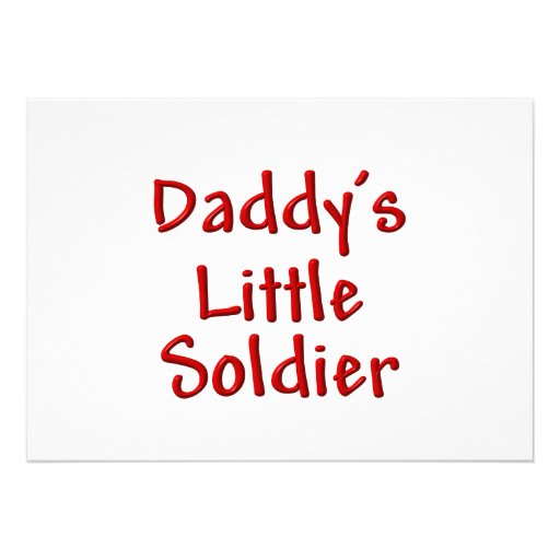 Daddy's Little Soldier (red) Custom Invites