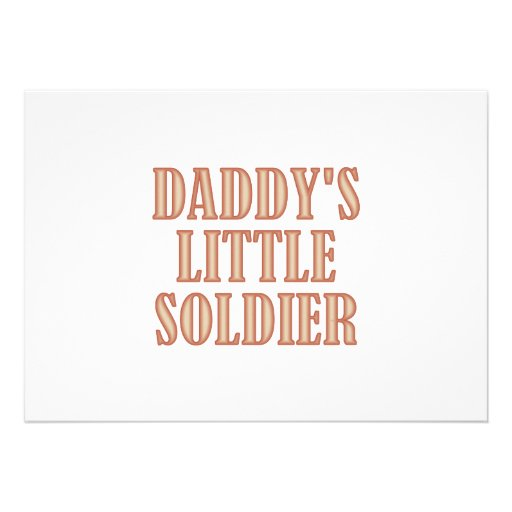 Daddy's Little Soldier (tan) Invite