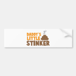 Daddy's little STINKER with cute poo Bumper Sticker