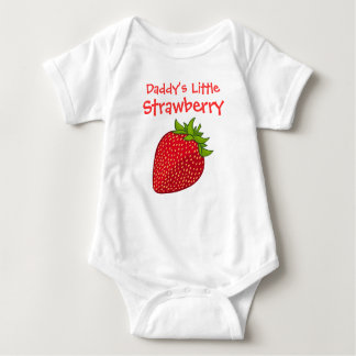 Daddy's Little Strawberry Baby Bodysuit