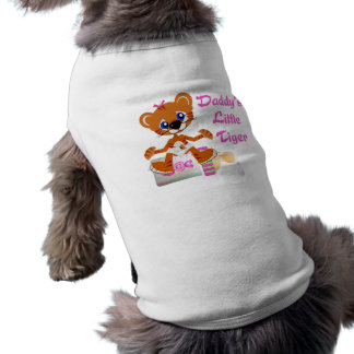 Daddys Little Tiger Girl Baby Tiger Sleeveless Dog Shirt