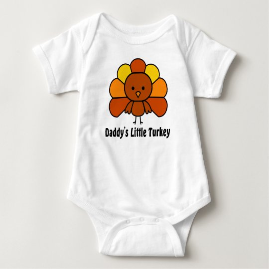 Daddys Little Turkey Baby Bodysuit