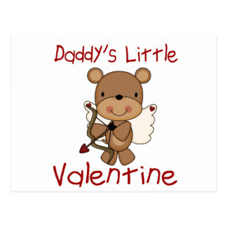 Daddy's Little Valentine Postcard