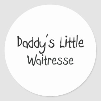 Daddy's Little Waitresse Stickers