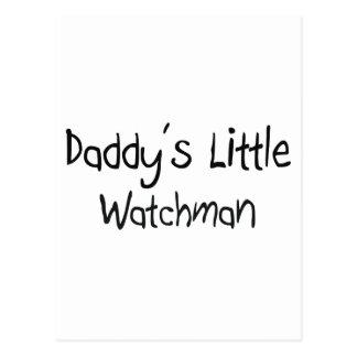 Daddy's Little Watchman Postcard