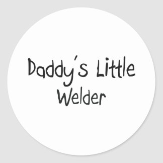 Daddy's Little Welder Classic Round Sticker