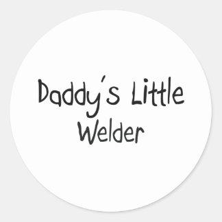 Daddy's Little Welder Round Sticker