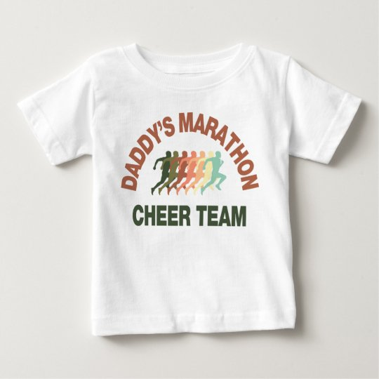 daddy's marathon cheer team baby T-Shirt