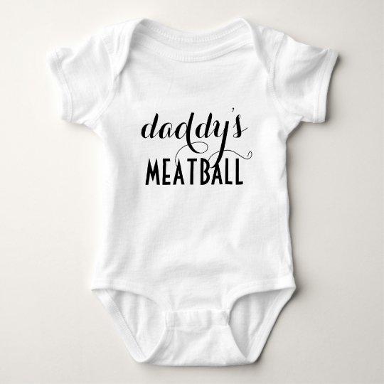 Daddy's Meatball Baby InfantWear One Piece Baby Bodysuit