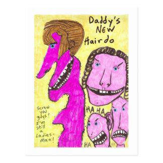 Daddy's New Hairdo Postcard