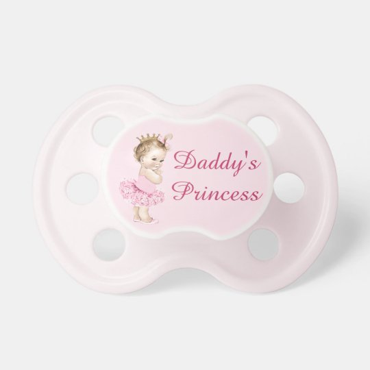 Daddy's Princess in Tutu Vintage Baby Baby Pacifiers