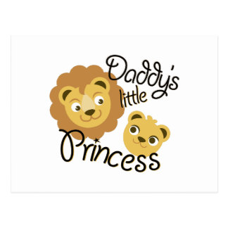 Daddys Princess Postcard