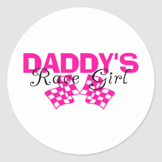 Daddy's Race Girl Stickers