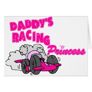 Daddy's Racing Princess Greeting Card