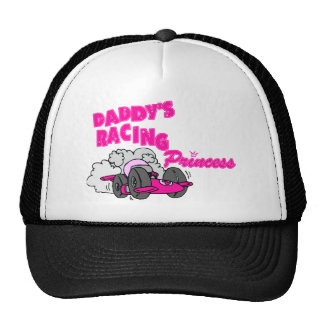Daddy's Racing Princess Trucker Hats