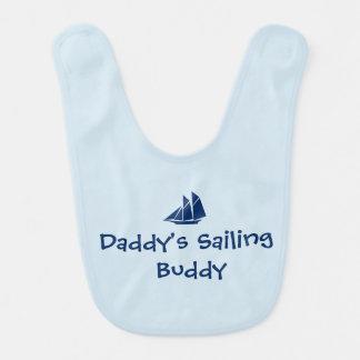 """Daddy's Sailing  Buddy"" Baby Bib"
