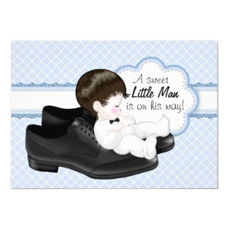 Daddys Shoes Little Man Baby Shower Card