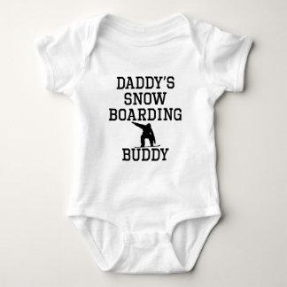 Daddy's Snowboarding Buddy Baby Bodysuit