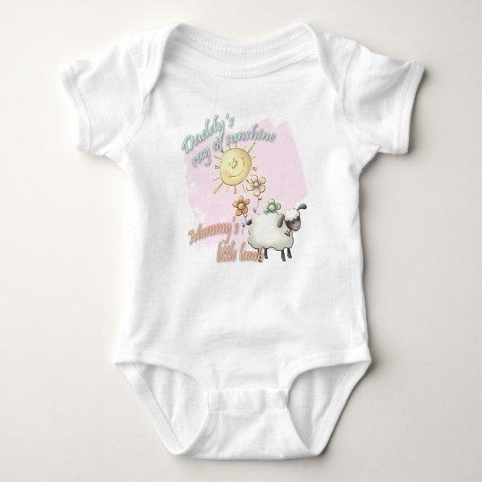 Daddy's Sunshine Mummy's Little Lamb Baby Bodysuit