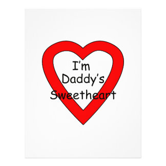 Daddy's Sweetheart Personalized Flyer