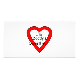 Daddy's Sweetheart Personalized Photo Card