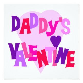 Daddy's Valentine Personalized Invitation