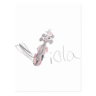 Daddy's Viola Postcard