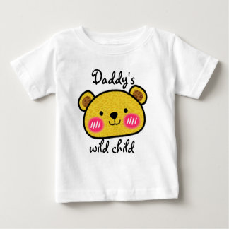 Daddy's wild child leopard cute baby tee shirt