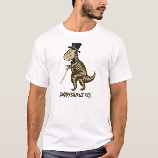 Daddysaurus Fancy Dinosaur T Shirt