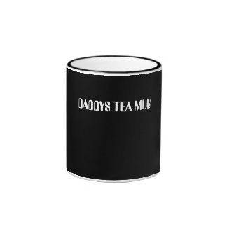 """DaddysTea Mug""""> Fathers Day  Mug"""" Ringer Mug"""