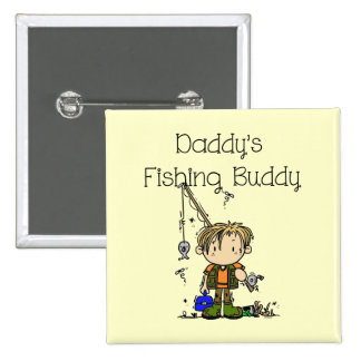 DADFISHINGBUDDY.png 15 Cm Square Badge