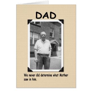 Dad's a dud greeting card