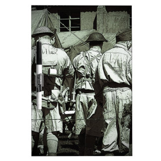 Dads Army on parade Dry Erase Board