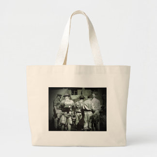 Dads Army on parade Large Tote Bag