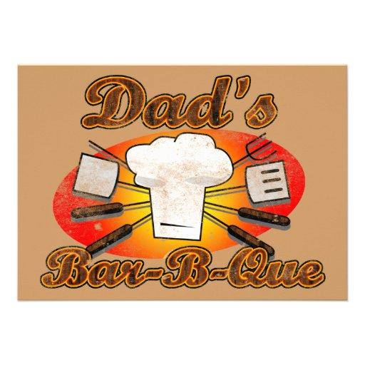 Dad's Bar-B-Que Invites